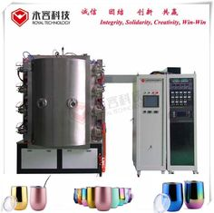SS Titanium Nitride Coating Machine Arc Evaporation Untuk Piala