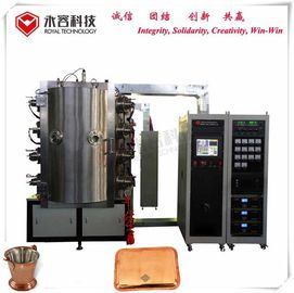 SS Peralatan Makan Titanium Nitrida Coating Mesin, DC Arc Ion Plating System, Copper Thermal Resistance Film Vacuum Plating